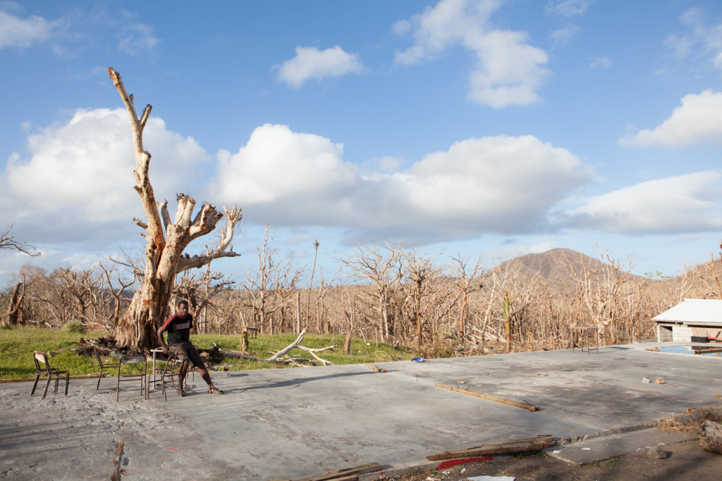 The Ere school, an elementary school on the island of Tongoa, was destroyed by Cyclone Pam. Richard Williams sheltered in the school with his family on March 13, 2015.