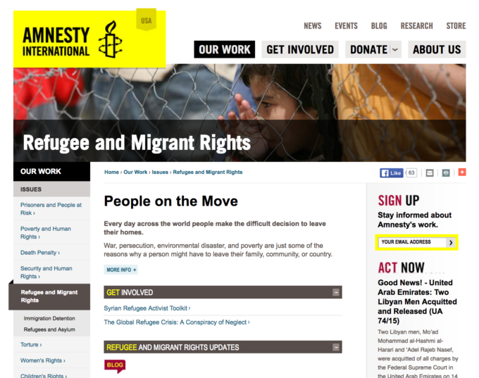 Amnesty International Refugee and Migrant Rights Aidworks Syrian refugees
