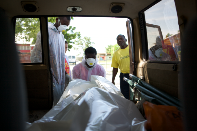 Claudette Brianvil became suddenly ill then died of cholera, Cite Soleil, Haiti in 2010.