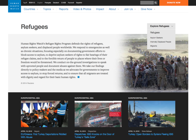 Human Rights Watch Refugees Aidworks Syria