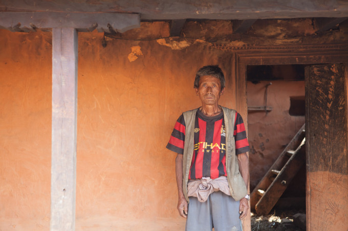 Asaman Tamang, 62, built the houses for his children and grandchildren, some more than 35 years ago.