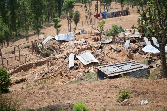 The family compound was heavily damaged in the quake.