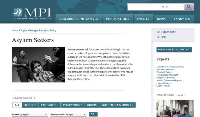 MPI Migration Policy Institute Asylum Resources Aidworks